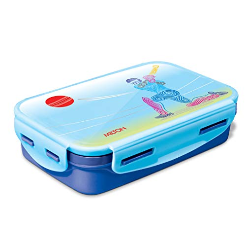 Milton Steely Insulated Stainless Steel School Lunch Box, 525 ml, Blue