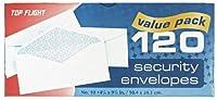 Top Flight Boxed数10セキュリティ封筒、4.125X 9.5インチ、ホワイトwithセキュリティライニング、120エンベロープperボックス(6900812)