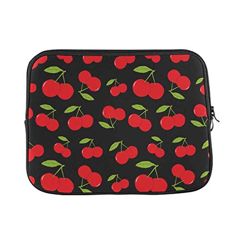 INTERESTPRINT Laptop Case Bag Sleeve Cherries Laptop Protection Cover 17 Inch 17.3 Inch