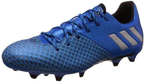 adidas Messi 16.2, Scarpe da Calcio Uomo, Blu (Blue/Silver Blue/Silver), 42 EU
