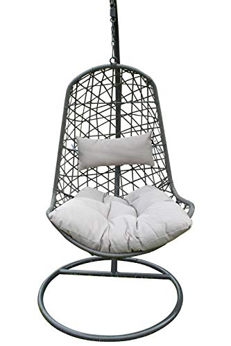 Verona Hanging Garden Chair - Wicker Egg Garden Chair- in Grey - D044