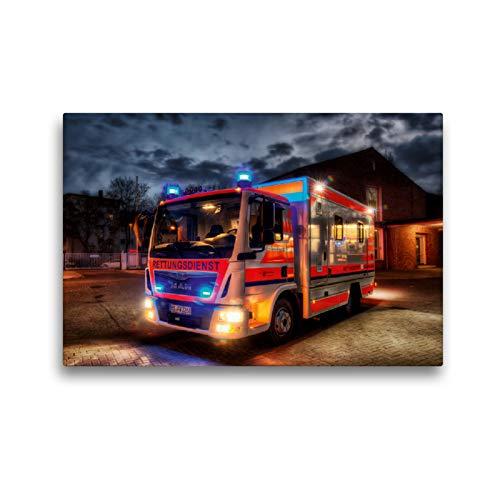 CALVENDO Premium Textil-Leinwand 45 x 30 cm Quer-Format Sonderrettungswagen (S-RTW), Leinwanddruck von Markus Will