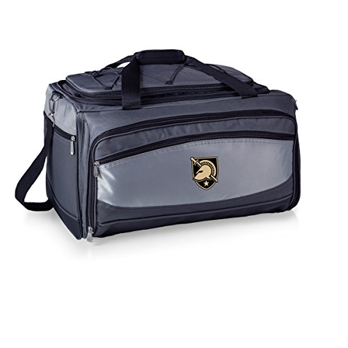 PICNIC TIME NCAA Army-US Military Academy Black Knights Buccaneer Tailgating Cooler with Grill