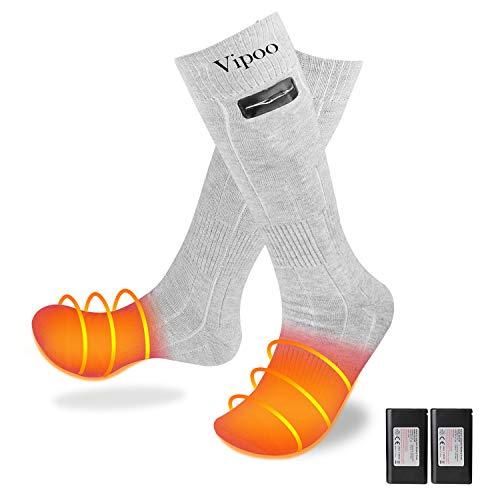 WOOCHY Heated Socks Women Men 4000mAh Rechargeable 3 Heating Settings Thermal Socks