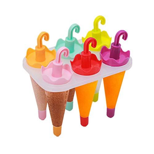Hemoton Eis Am Stiel Formen Hersteller Wiederverwendbare Regenschirm Geformte Eis Pop Formen Schalen für Hausgemachte Eis Am Stiel Eis Machen Lieferungen 6 Stück