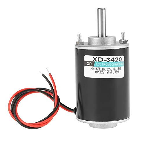 XD-3420 12V / 24V 30W CW / CCW Motor de engranaje eléctrico Motor de CC de imán permanente Reversible de alta velocidad de bajo ruido para generador de bricolaje (12V)