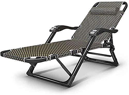 Sillón reclinable plegable, reclinable reclinable para jardín Cama plegable para exteriores Silla para exteriores Silla de comedor al aire libre Tumbona Balcón Terraza Camping Playa, Carga 200 kg, Tu