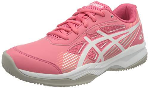 ASICS Gel-Game 8 Clay/OC GS Tennis Shoe, Pink Cameo/White, 32.5 EU