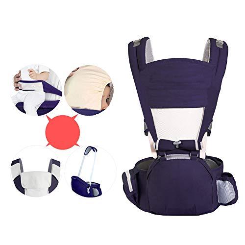 GJF Babytrage mit Hip Sitz Baumwolle Leichte atmungsaktive Babyschale Mehrfachheftung Träger Sling justierbare Taille Hocker für Neugeborene und Kleinkinder von 0 bis 4 Jahre (3,5-30 kg)-6