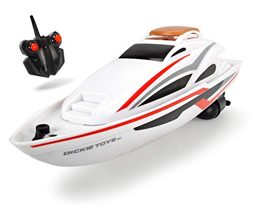 Dickie Toys 201119551 RTR Sea Cruiser, ferngesteuertes, RC Speed-Boot, Ready to Run, 2,4 GHz, 34 cm, weiß