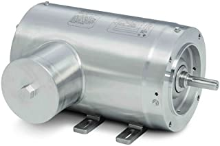 Baldor Electric Company CFSWDM3538-E - Foot Mounted AC Washdown Motor-Encapsulated -Food Safe - General Purpose Motor - (Stainless Steel), 3 ph, 1/2 hp, 1800 rpm, 208/230/460 V, 56C Frame,