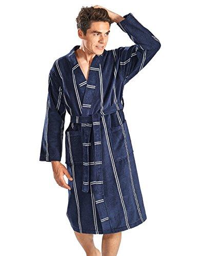 Otto Werner Velours Kimono gestreift marine 66/68