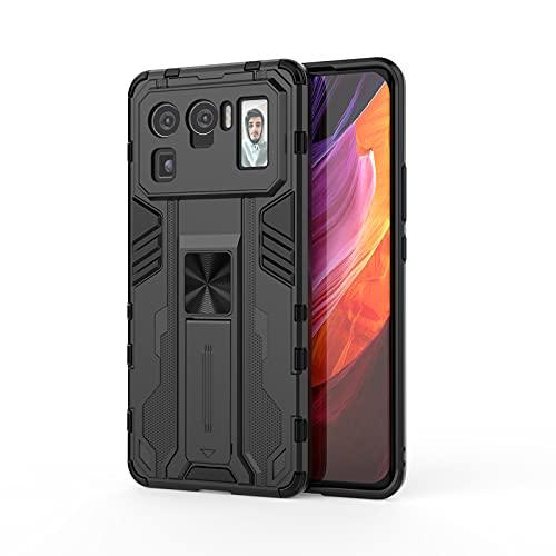 SHIEID Armadura Funda para Xiaomi Mi 11 Ultra Funda, Caja magnética del teléfono móvil del Coche Sujeción Soporte Antichoque Rígido Caja Case para Xiaomi Mi 11 Ultra-Negro