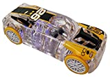 Marble Racers Light Up 1:43 Scale Race Car with Quick Shot Pull-Back Motor - Yellow Wheels