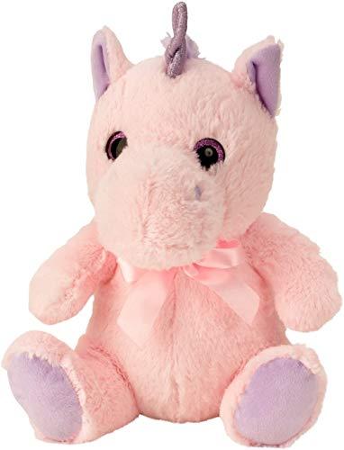 Knuffel pluche eenhoorn knuffel knuffel zittend roze hoogte 33 cm - om van te houden