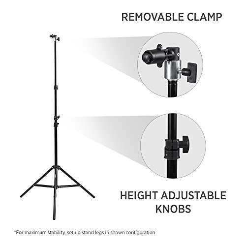 Fovitec - 7'6' Clip Stand Kit for Photo & Video Pop-Out Backdrops & Reflectors