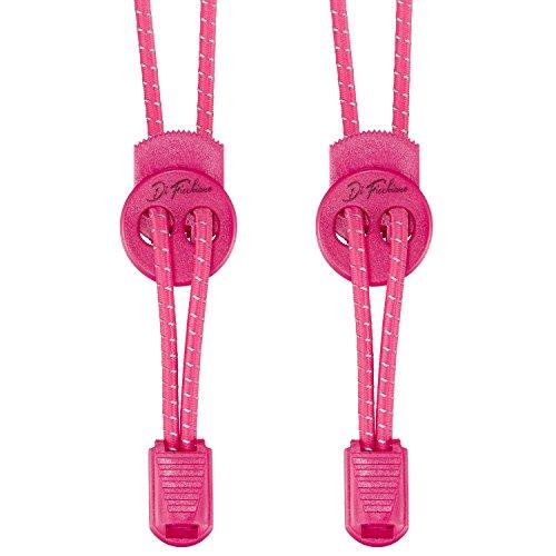 Di Ficchiano DF-Elastic-pink Premium Schnellschnürsystem/elastische Schnürsenkel (1 Paar) für Sneaker, Sport- und Freizeitschuhe