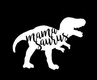CCI Mamasaurus Funny T Rex Mom Life Decal Vinyl Sticker|Cars Trucks Vans Walls Laptop| White |5.5 x 4 in|CCI1606