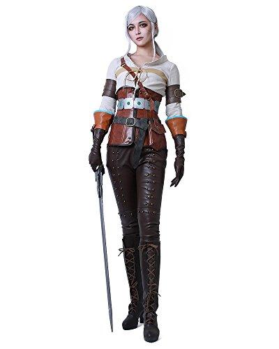 miccostumes Women's Hunt Ciri Cosplay Costume (Women XL) Brown