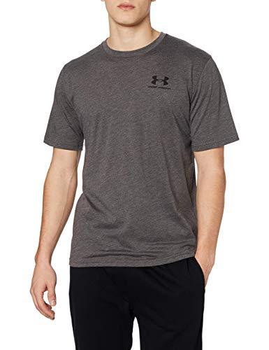 Under Armour Sportstyle Left Chest Camiseta, Hombre, Negro (Charcoal Medium Heather/Black), XL