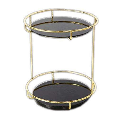 alyf Organizador Joyas Caja de cosméticos de Almacenamiento de Productos de Escritorio en casa cómoda Perfume lápiz Labial Cuidado de la Piel Rejilla rotativa expositores joyeria (Color : Black)