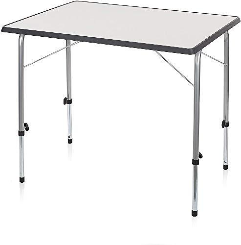 Campart Campingtisch/ Reisetisch - 80 x 60 cm wetterbeständige Rolltischfläche/ höhenverstellbar/ einfach auf- und zusammenklappbar, TA-0831