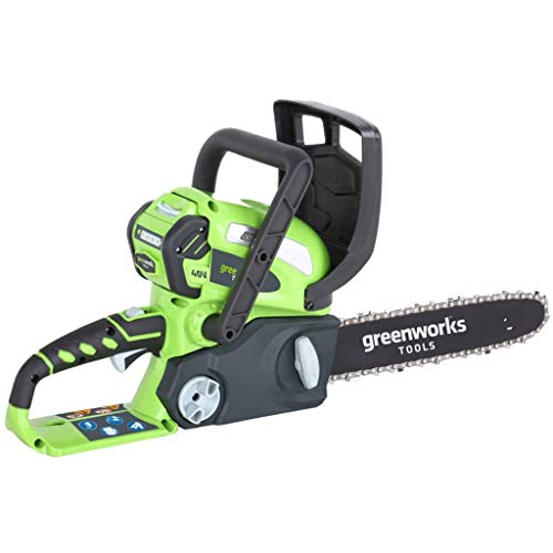Photo of Greenworks Battery Chainsaw G40CS30 (Li-Ion 40 V 4.3 m/s Chain Speed 30 cm Sword Length 120 ml Oil Tank Volume All-Round Handle without Battery and Charger)