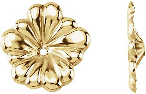 14k Yellow Gold Floral Inspired Earring Jackets Fine Jewelry for Women product image