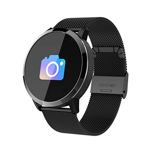 NA Smart Watch OLED Color Screen Smartwatch Fashion Fitness Tracker Heart Rate Monitor Black steel