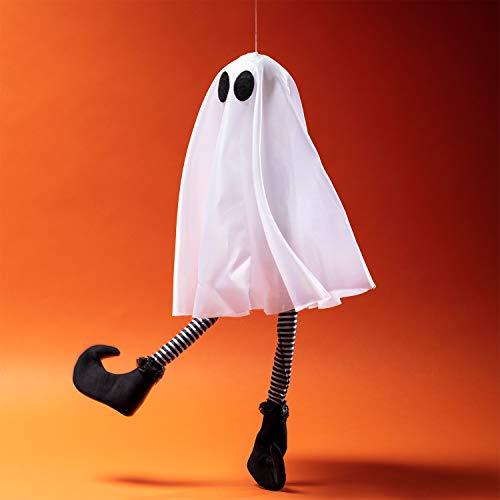 Lights4fun LED Geist kichernd und zappelnd Halloween deko Batteriebetrieb