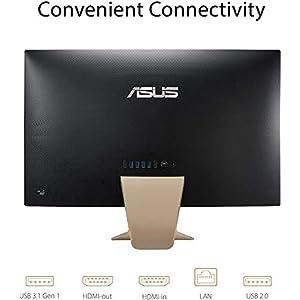 "ASUS 24 AIO 23.8"" FHD Business All in One Desktop Computer, AMD Ryzen 3 3250U(Beats i5-7200U), 8GB DDR4 RAM, 256GB PCIe SSD, AC WiFi, Remote Work, Gold, Windows 10 Pro, BROAGE 64GB Flash Drive"
