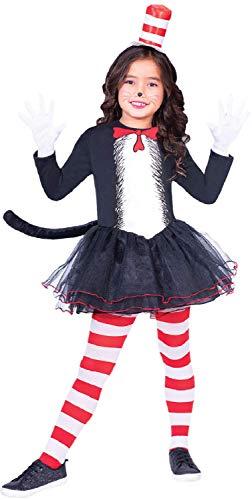 Fancy Me Mädchen Offiziell Dr Seuss Katze im Hut Tutu Rock Kleid Welttag des buches-Tage-Woche TV Buch Film Karneval Tier Kostüm Kleid Outfit 4-12 Jahre - 10-12 Years