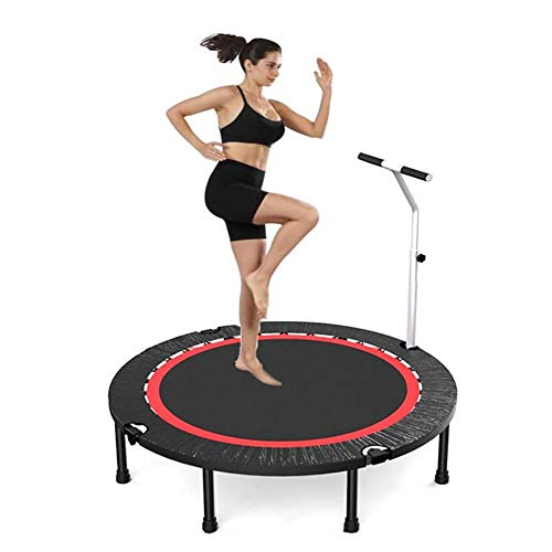 TRAMPOLINE AGYH Folding, Elastic Bed With Adjustable Armrests And Safety Pad, Used For Physical Exercise And Aerobic Exercise In Garden Gym, 40in/48in/50in (Size : 48in)