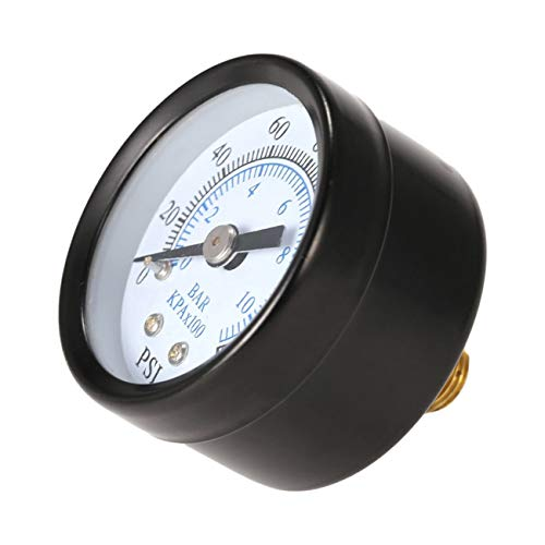 Peanutaoc Professional 1/8 Inch 160 Psi 0-10bar Compressor Persluchtdrukmeter Kleine Dubbele Schaalmeter Ts-40
