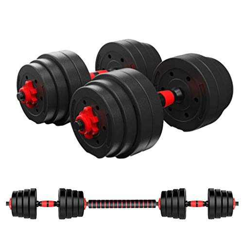 Homlpope Adjustable Weights Dumbbells Set Fitness Dumbbells Set for Men and Women with Connecting Rod Can Be Used As Barbell (40.5kg - Adults)
