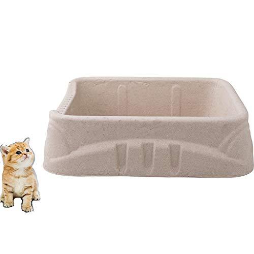 Rory Einweg Katzentoilette, Bewegliche No-Clean Recyclingfähigem Wellpapier Haustier-Katzen-WC Tary 40 * 30 * 10,2Cm, 3 Stück
