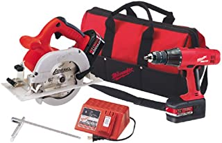 Milwaukee 6310-28 18 Volt Circular Saw and Hammer-Drill Combo Kit with Contractor Bag