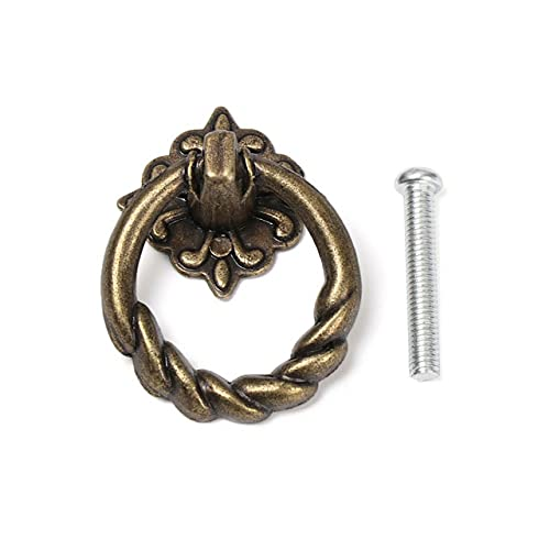 Mehrzweck-Ring im europäischen Stil Bronze Griffe Kleiderschrank zieht Einloch-Schrank ziehen zusätzliche langlebige Möbelknöpfe-5