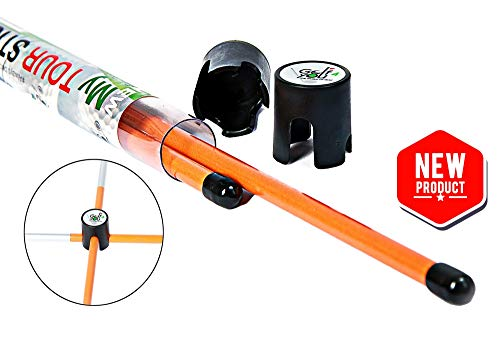 New Improved Design Set of 2 Orange Golf Alignment Sticks + Includes 2...