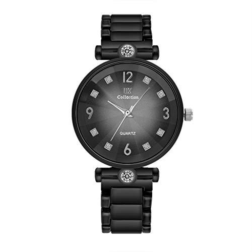 HBR Relojes de pulsera para mujer Queen's Court de cuarzo de acero inoxidable reloj deportivo de mujer con detalles de diamante para mujer (color: F)
