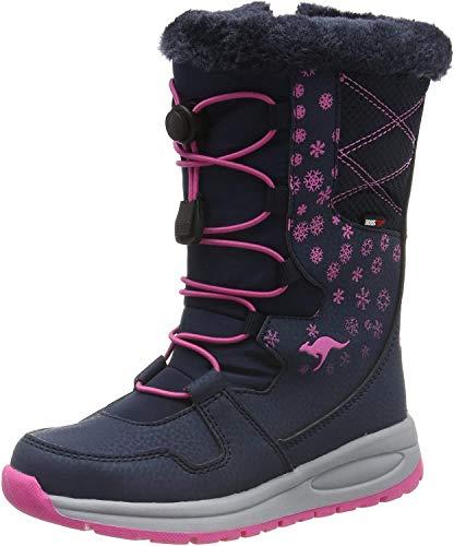 KangaROOS K-Glaze RTX Unisex-Kinder Stiefel, Blau (Dark Navy/Daisy Pink 4204), 34 EU