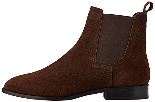 find. Leather Botas Chelsea, Marrón Chocolate, 36 EU