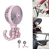H.Yue Mini Handheld Stroller Fan,Personal Portable Baby Fan with Flexible Tripod Fix on...