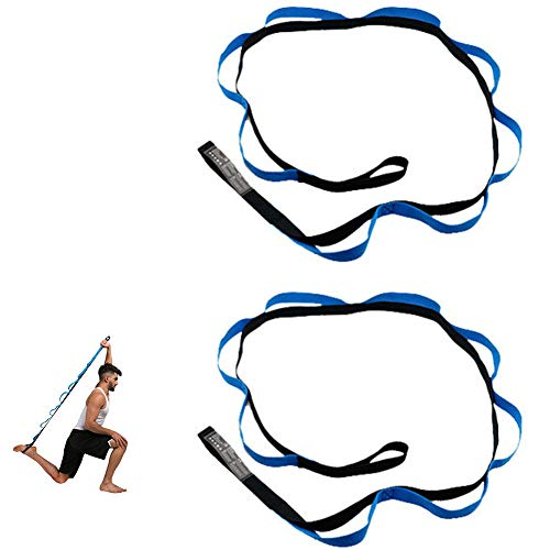 FQMAO 2PCS Strong Climbing Strap Adjustable Strap Rope Strong Daisy Chain Rock Climbing Safety Loop Sling Chain Yoga Extention Strap