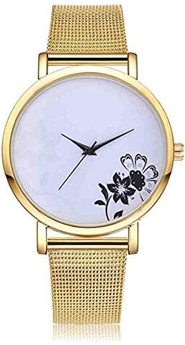 JZDH Mano Reloj Reloj de Pulsera Luxury Starry Women Watches Steel Quartes Rose Pulsera Reloj Reloj Casual Reloj Amantes Girl Wristwatch Relogio Relojes Decorativos Casuales
