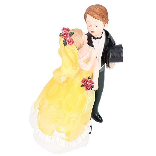 Estatuilla artesanal, manualidades para bodas en pareja, pulido a mano de alta calidad, duradero para decoración de regalos(26306D-3)