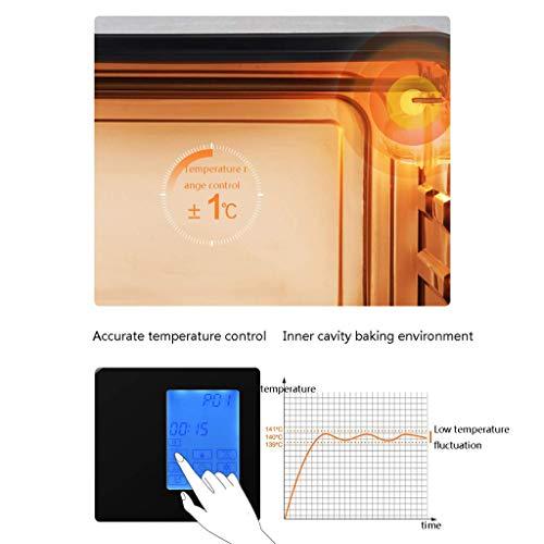 417P8Z8+WZL - YXZQ 28L Mini-Ofen Haushalt Multifunktions-Dampfofen All-in-One 30 Arten von Menü-Timing Doppelschicht-Tür aus gehärtetem Glas 1,2 l Wassertank mit Zubehör 2050W