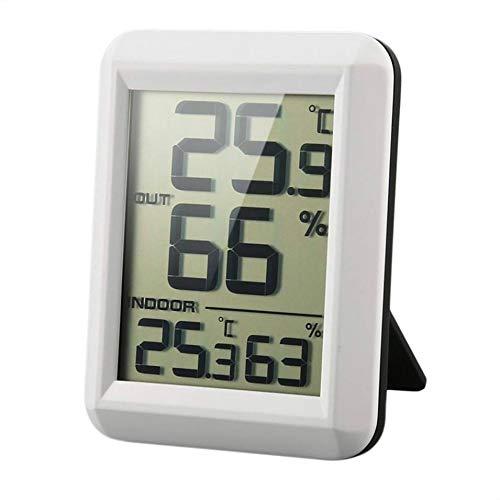 Yangge Yujum Digital LCD Funk-Thermometer Hygrometer mit Transmitter Temperatur-Feuchtigkeits-Test-Meter-Innenwetterstation