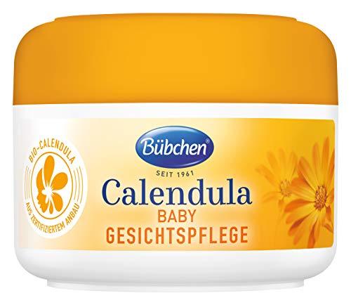 Bübchen Calendula Gesichtspflege, mit BIO-Calendula zum Schutz empfindlicher Babyhaut, 75 ml
