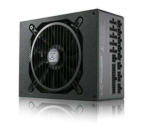 LC-Power Free Silent Platinum Alimentatore per PC (1200W, 12V, PFC Attivo, ATX, Ventilatore 13.5 cm, modulare progressivo,Certificato 80 Plus, antivibrazione l'efficienza del Sistema + 92%)(LC1200)